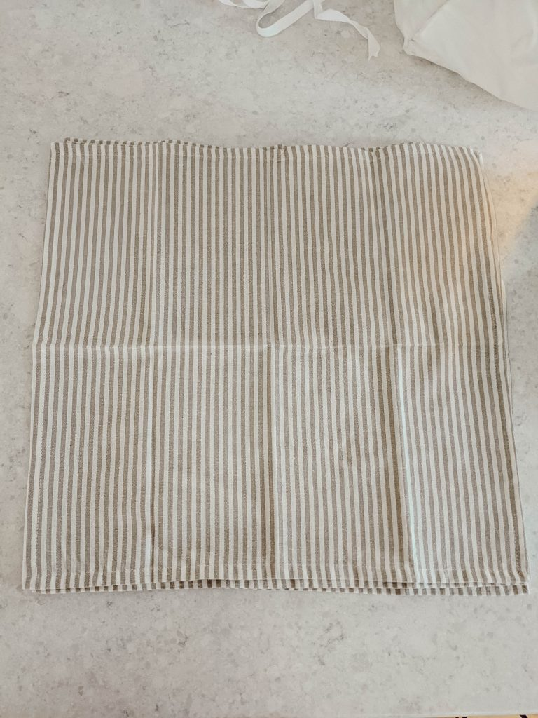 neutral beige and cream striped napkins