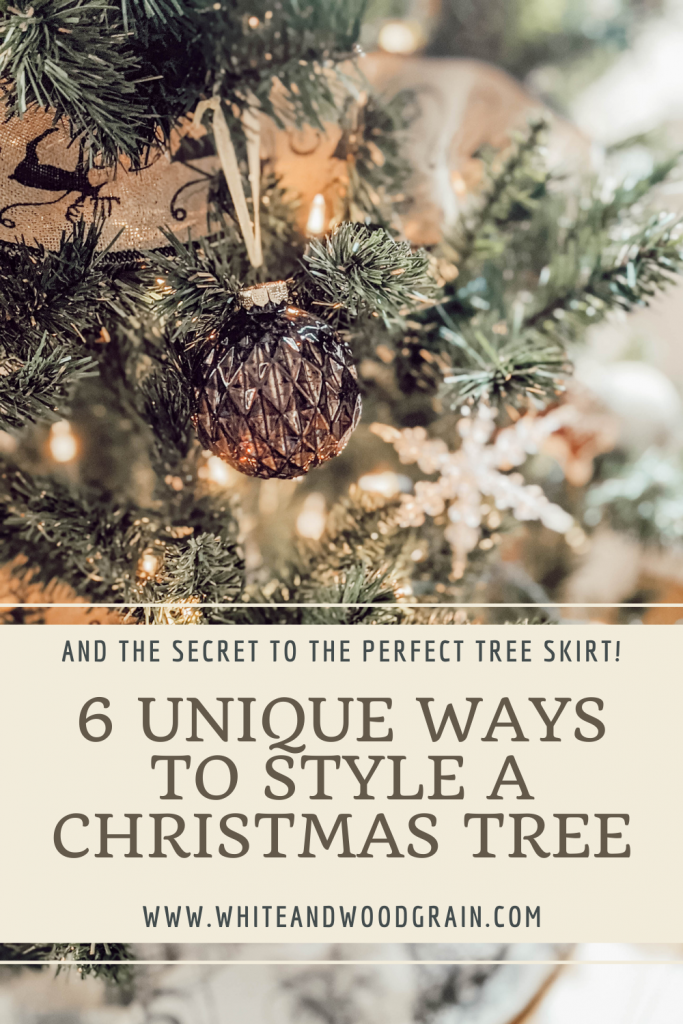 6 unique ways to style a Christmas tree and the secrets to the perfect tree skirt