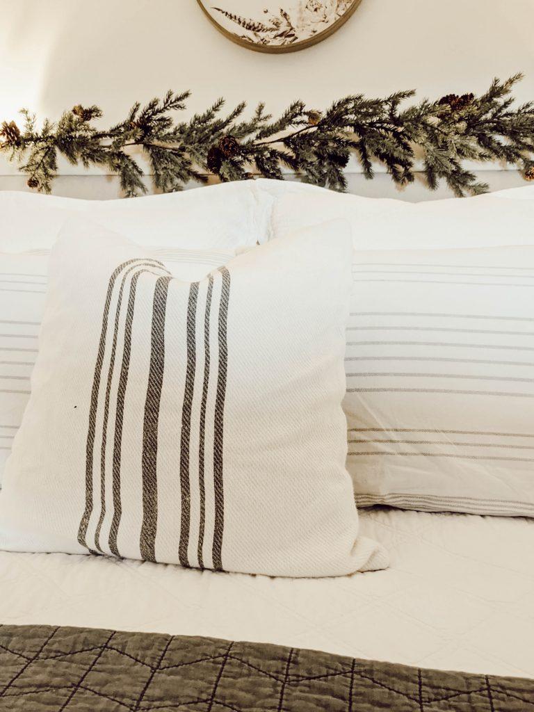 white farmhouse style bedding