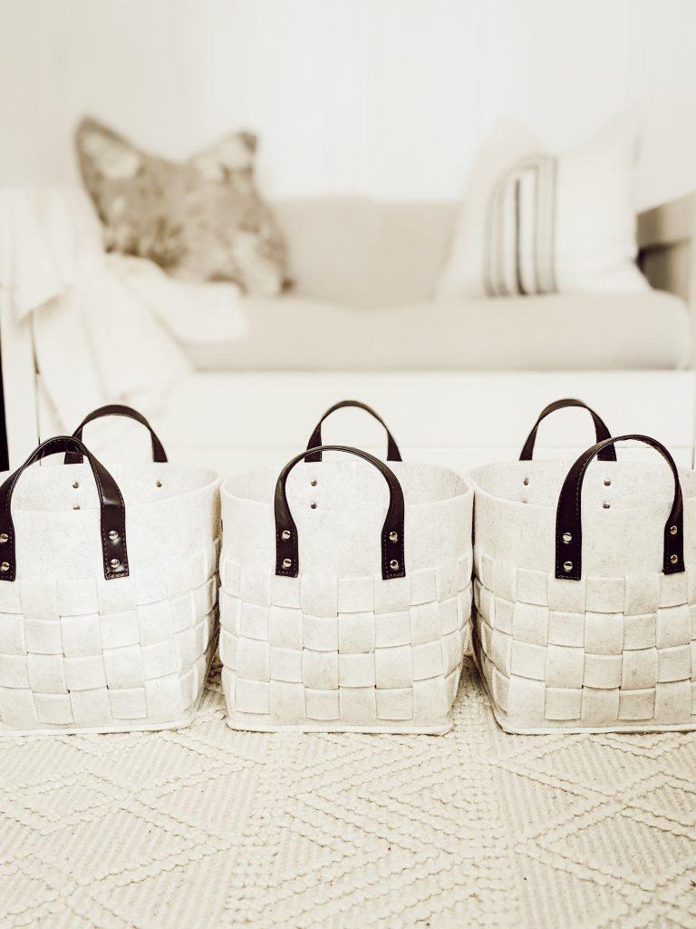white neutral playroom storage bins from target