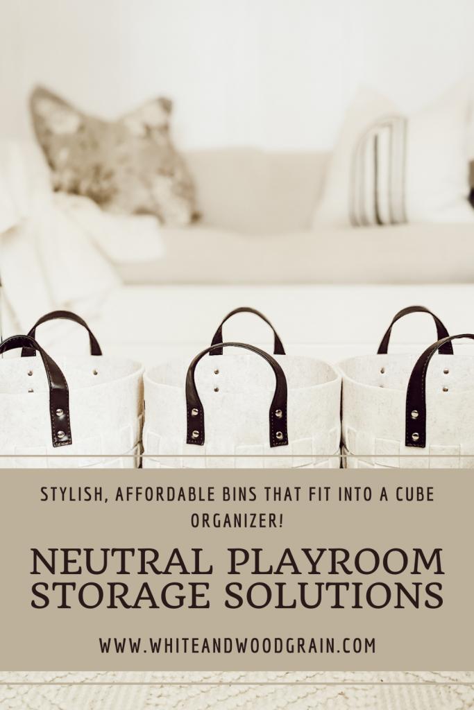neutral playroom storage solutions