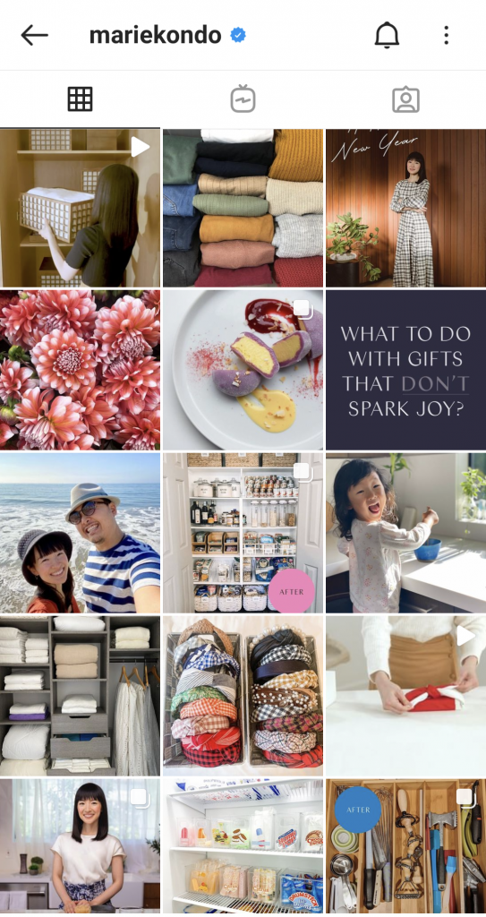Marie Kondo's Instagram feed sparks joy and is major decluttering inspiration