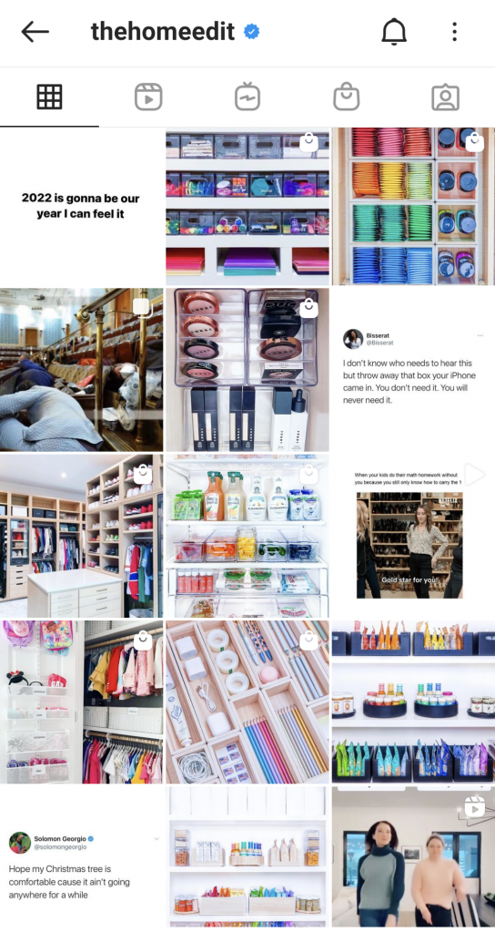 The Home Edit's Instagram feed is full of organization inspo